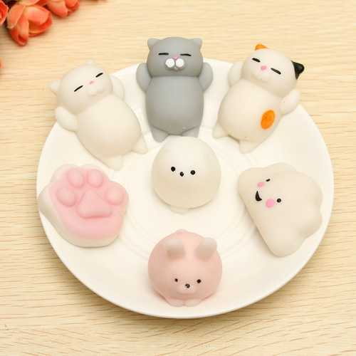 Cat Squishy Squeeze Cute Healing Toy Kawaii Collection Stress Reliever Gift Decor