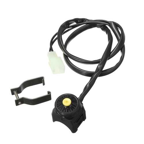 22mm Ignition Red Black Dot Switch For Motorcycle ATV SUV