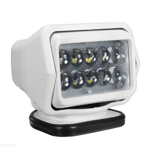 LED Search Light Wireless Remote Control Spot Light Magnetic Base DC12V 50W White for Boat Off Road