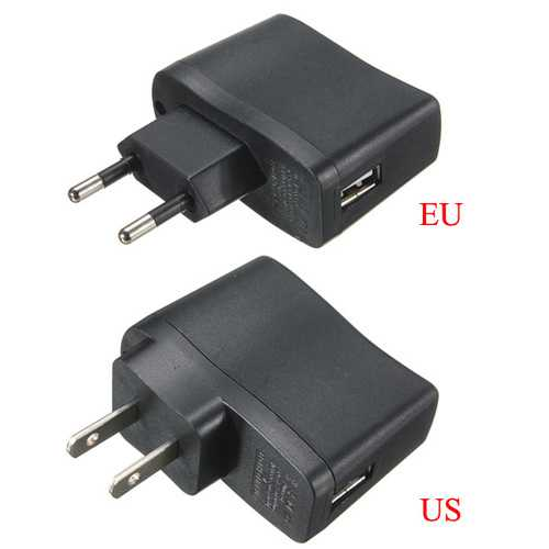 EU/US USB AC Power Supply Adapter Charger Adapter