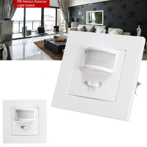 140 Degree Infrared PIR Motion Sensor Recessed Wall Lamp Bulb LED Strip Light Switch AC220-240V
