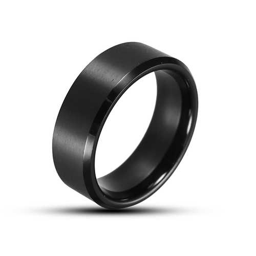 8mm Tungsten Steel High Polished Ring Anti-Scratch Finger Ring for Men Jewelry