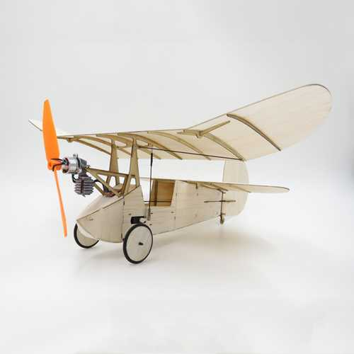 Flea Balsa Wood 358MM Wingspan Micro RC Airplane Newton Kit With Power System