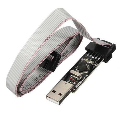 5Pcs USBASP USBISP 3.3 5V AVR Downloader Programmer With ATMEGA8 ATMEGA128