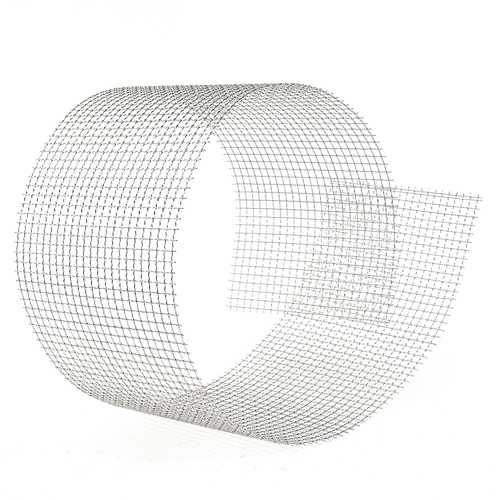 15x90cm Woven Wire 304 Stainless Steel Filtration Grill Sheet Filter 4 Mesh