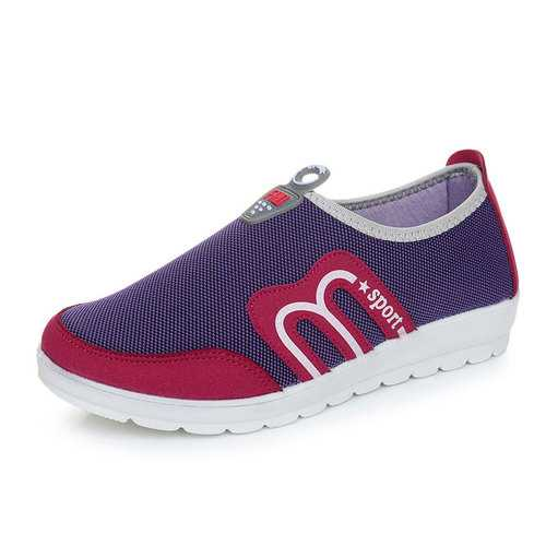 Breathable Mesh Casual Slip On Soft Sole Sport Shoes