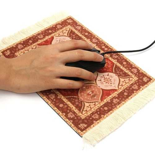 28x18cm Bohemia Style Persian Toile Rug Mouse Pad Mat For Desktop PC Laptop