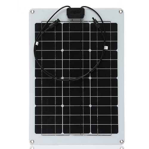 Elfeland® SP-10 12V 30W ETFT High Efficiency Semi Flexible Monocrystalline Solar Panel 640*440*2.5mm