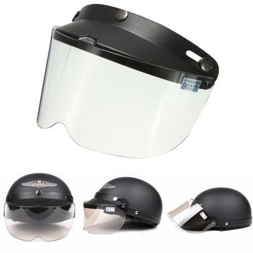 Universal Motorcycle Helmet Flip Up Visor Model Transparent Button Wind Lens UV Sunscreen 7.9X5.7in