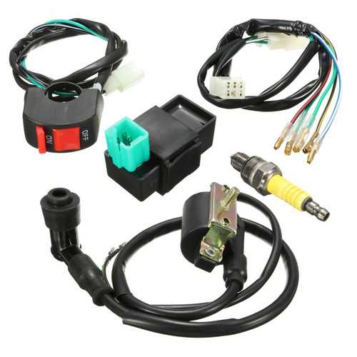 Wiring Loom Kill Switch Coil CDI Spark Plug Kit For 110cc 125cc 140cc Pit Bike
