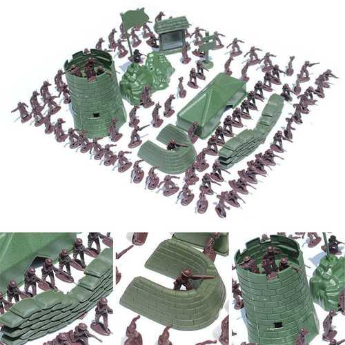 100PCS 3CM Army Combat Men Kid Toy Soldiers Military Plastic Figurine Action Figure