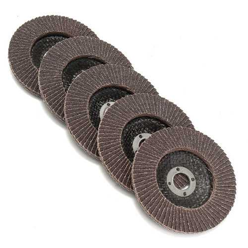 5pcs 100mm 4 Inch 80 Grit Flap Sanding Disc Angle Grinder Wheel