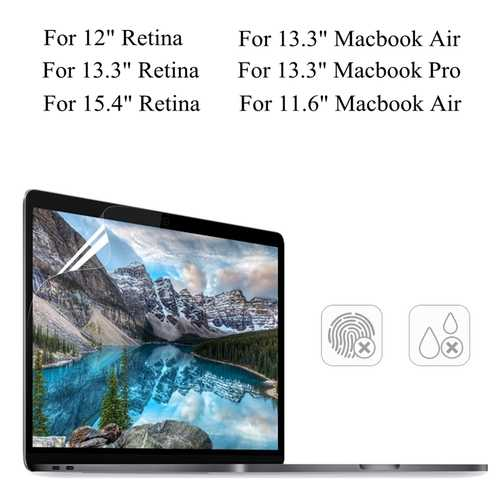 "PET Clear Transparent Anti Glare Screen Protector For Macbook Air 11.6""/13.3"" Pro 13.3"" Retina 13.3"" /15.4"""