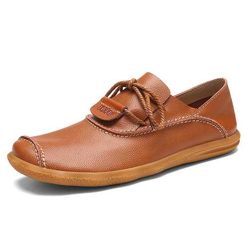 Business Shoes Men Casual Low Top Oxfords In Leather
