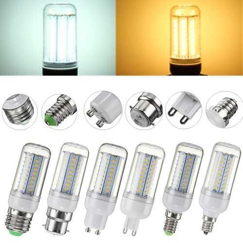 5W SMD4014 E27 E14 E12 G9 GU10 B22 LED Corn Light Bulb Lamp for Home Decor