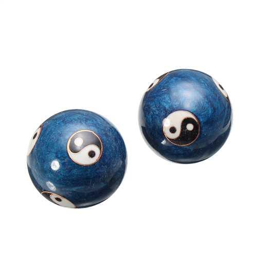 Chinese Health Exercise Stress Baoding Massage Ball Yin Yang Therapy Handball Relaxation