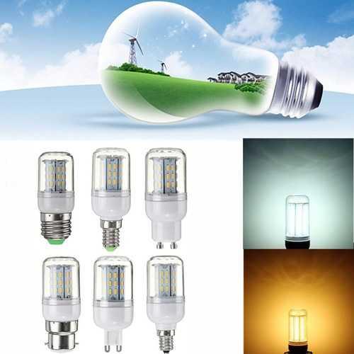 Dimmable 4W E27 E14 E12 G9 GU10 B22 4014 SMD LED Corn Light Bulb Lamp AC220V