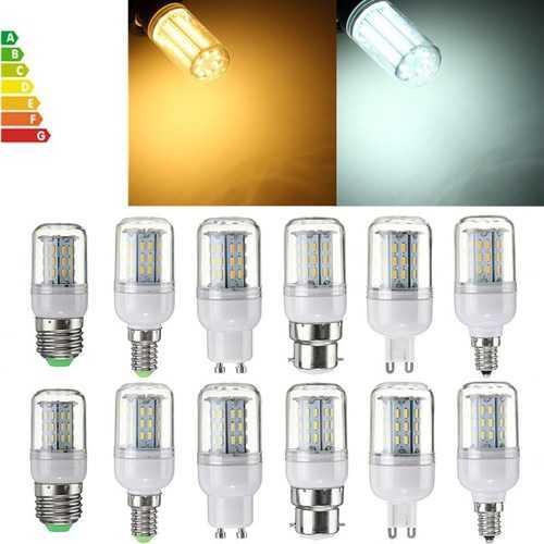 Dimmable E27 E14 E12 B22 GU10 G9 SMD4014 4W LED Corn Bulb Light Lamp AC110V