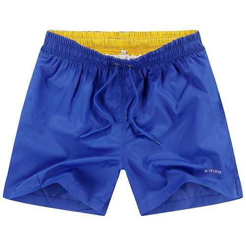 Mens Summer Casual Elastic Waist Loose Beach Shorts