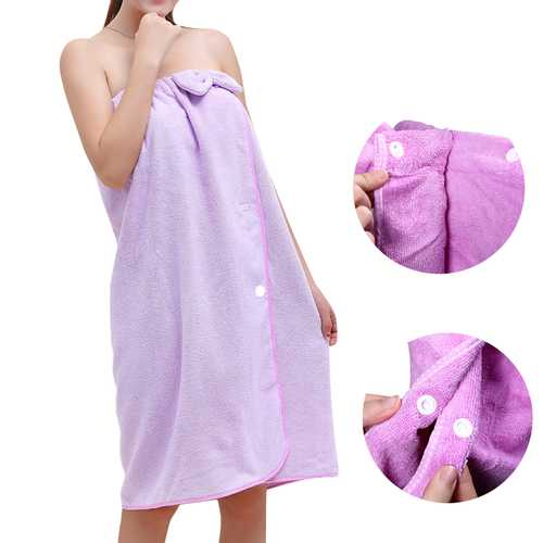 Honana BX-282 Bowknot Bathrobe Women Soft Quickly Absorbent Microfiber Lovely Spa Bath Towel