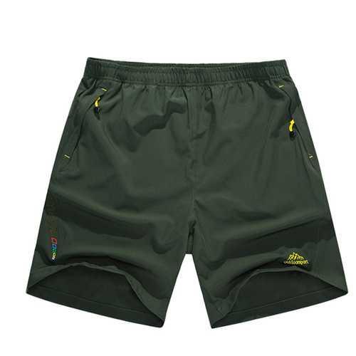 Mens Quick Drying Elastic Waist Loose S-3XL Shorts