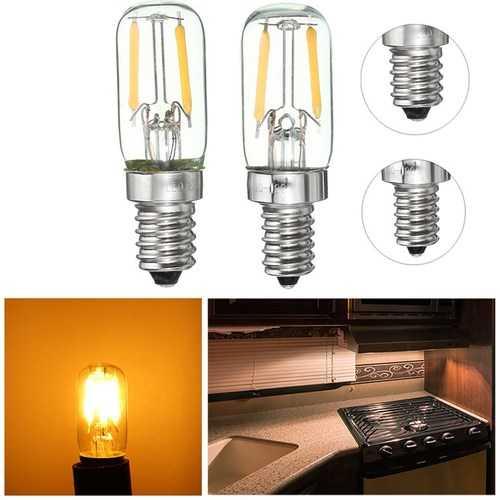 Dimmable E12/E14 1W Mini COB LED Refrigerator Fridge Freezer Filament Light Bulb
