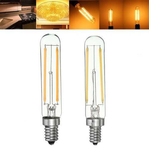 Dimmable Retro 2W E12 E14 T20 Refrigerator LED COB Filament Bulb Warm White