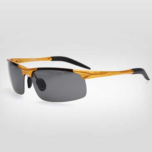 Men Polarized Sunglasses Aluminum Magnesium Alloy Frame Outdoor Sport Driving Goggles