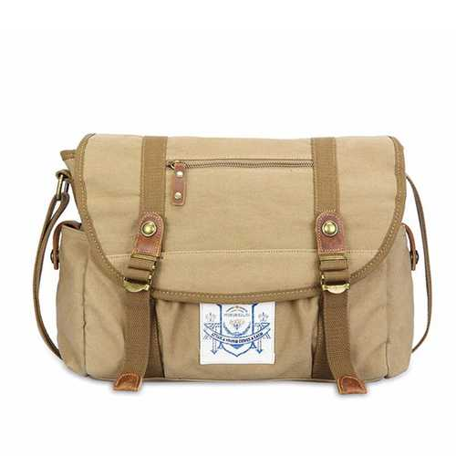 Men Vintage Canvas Messenger Bag Business Travel Shoulder Bag Satchel Bag