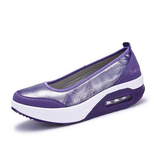 Casual Rocker Sole Shoes Outdoor Sport Slip On Flats
