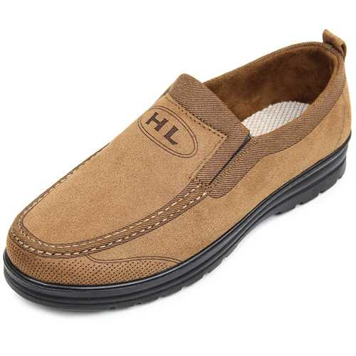 Low Top Men Casual Slip On Outdoor Soft Flat Shoes