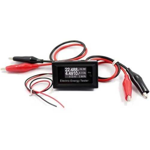 100V 15A Digital DC Voltmeter Current Voltage Meter Energy Battery Capacity Tester Charger Ammeter