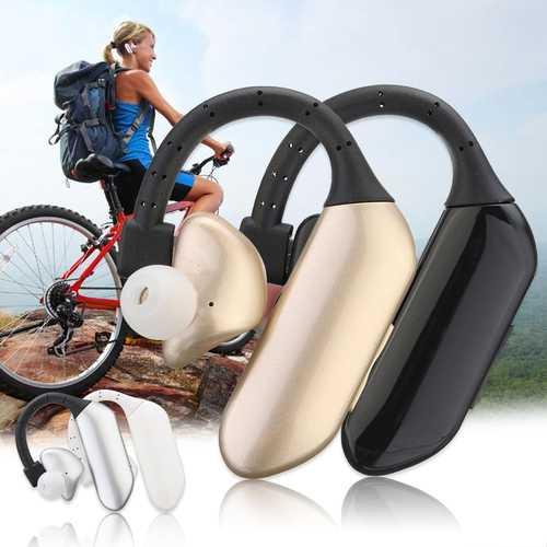 Business Single Ear Hanging Wireless bluetooth Earphone Headphone