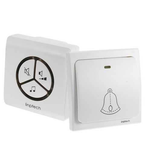 Linbell Wireless Doorbell No Battery Waterproof Automatic Generation Intelligent Pairing Doorbell