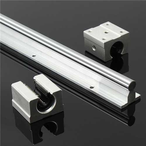 SBR12 800mm Supported Linear Rails Shaft Rod With 2pcs SBR12UU Block Bearing