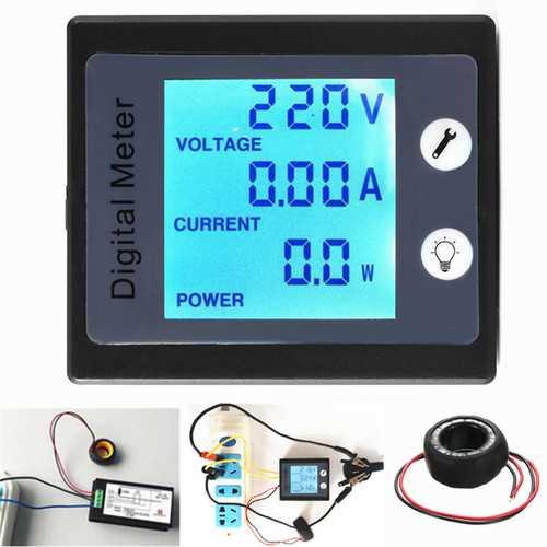 AC80V-260V 100A Digital Power Energy Meter Voltage Tester Ammeter Voltmeter Transformer