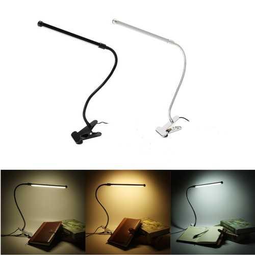 Flexible USB Clip-on Table Lamp LED Touch Clamp Reading Laptop Desk Light
