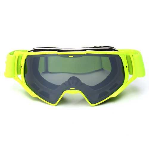 Anti-UV Motocross Goggles Off Road ATV Bike Helmet Eyewear Grey Removal Lens