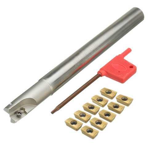 300R C14-14-150 Lathe Turning Tool Holder With 10pcs APMT1135PDER Carbide Inserts