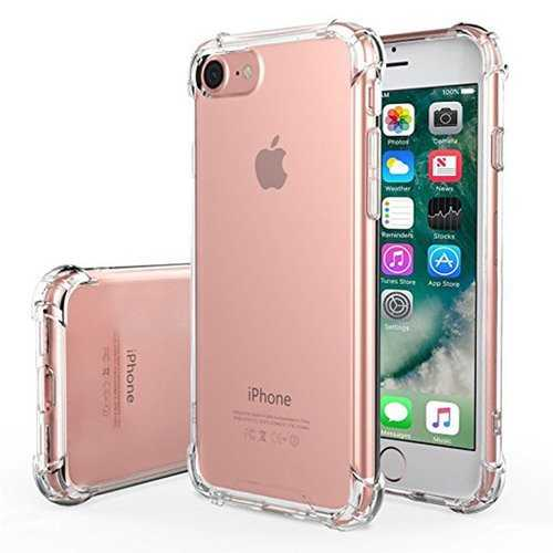 Air Cushion Soft TPU Transparent Shockproof Case For iPhone 7 & 8