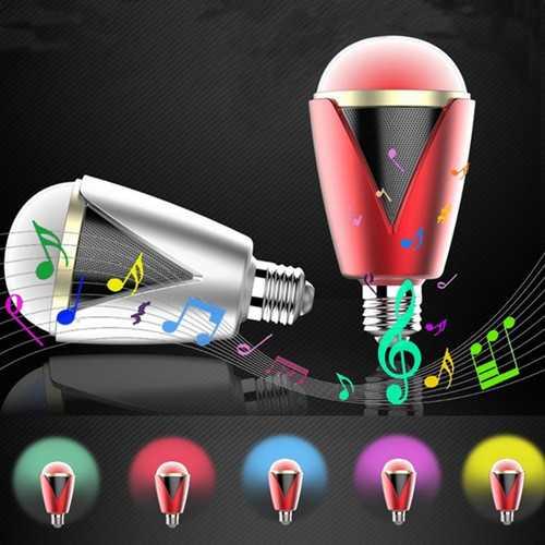E27 5W Bluetooth APP Control Music Audio Speaker RGBW LED Smart Light Lamp Bulb AC100-240V