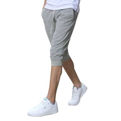 Summer Men's Casual Sports Shorts-pants Pure Color Cotton Thin Breeches