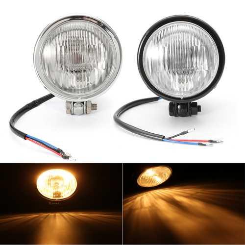 12V 4inch Motorcycle H4 Round Headlight Light Lamp Bulb Hi/Lo Beam Universal