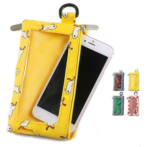 Multifunctional Earphone Jack Touch Screen Purse Phone Wallet for Phone Under 4.7-inch