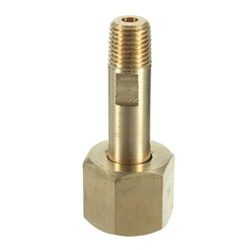 "CGA-540 Nut 3"" Nipple to 1/4"" NPT Cylinder Fittings Regulator Inlet Bottle (Oxygen)"