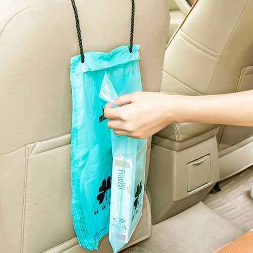 50pcs Vehicle Car Seat Back Hanging Trash Storage Garbage Rubbish Sealed Bags