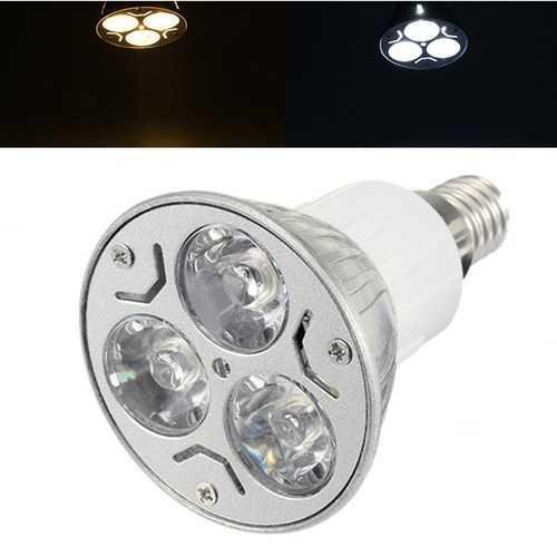 Dimmable E14 3W LED Spotlightt Bulb Lamp White/Warm White AC110/220V