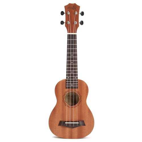 21 Inch Acoustic Soprano Hawaii Sapele Ukulele Musical Instrument