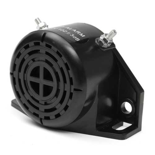 105DB Motorcycle Car Vehicle Reversing Horn Speakers Back-up Alarm System Buzzer Black