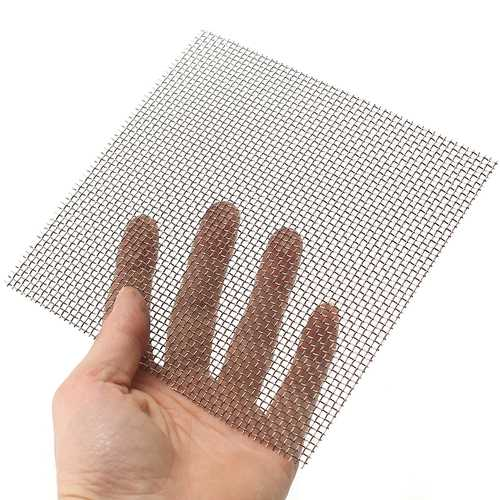 15x15cm Woven Wire Cloth Screen  Stainless Steel 304 10 Mesh